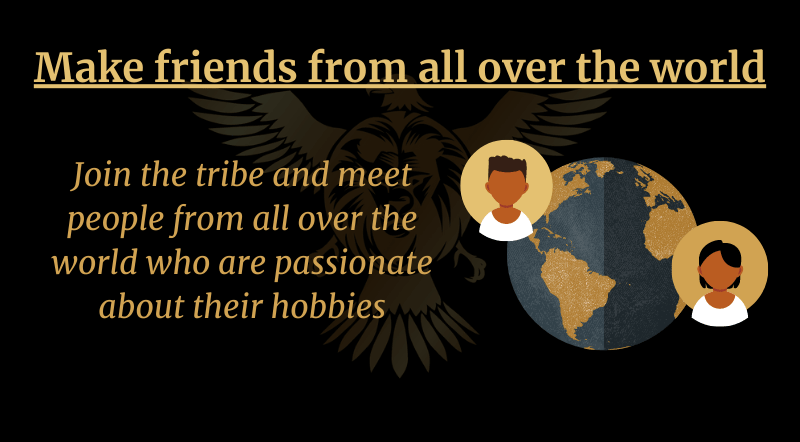 Make friends from all over the world